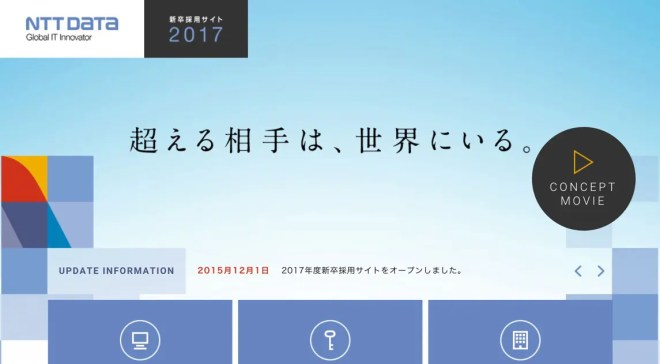 NTTデータ新卒採用サイト2017