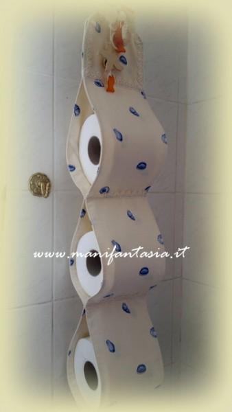 come fare un portarotoli da bagno in stoffa  manifantasia