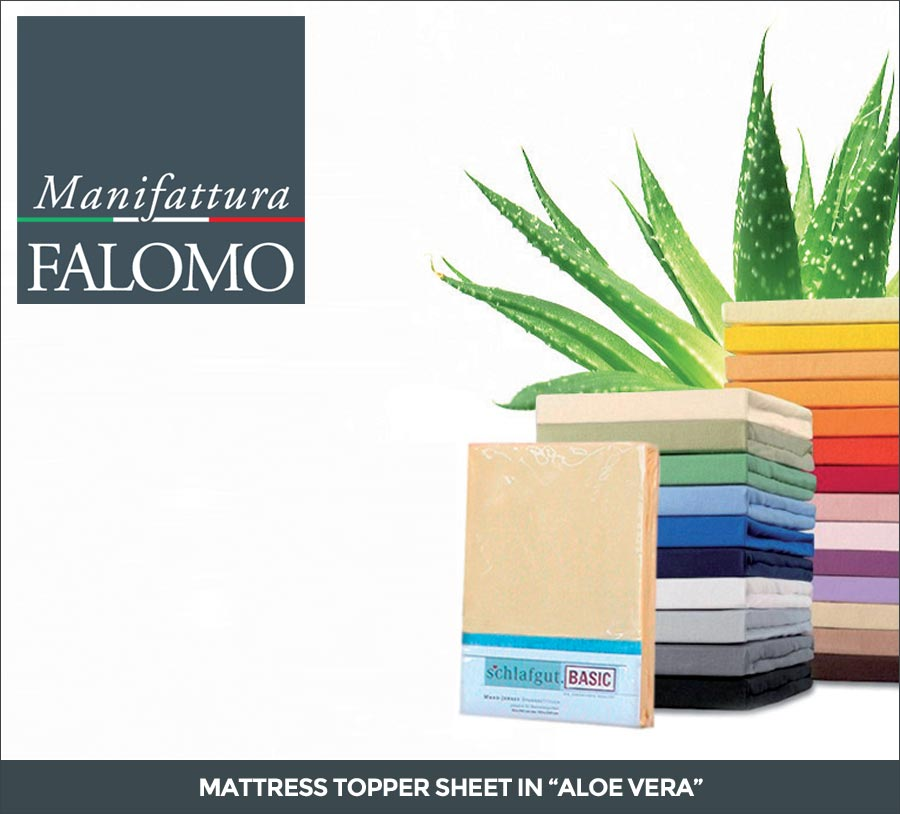 Mattress Topper Sheet in Aloe Vera