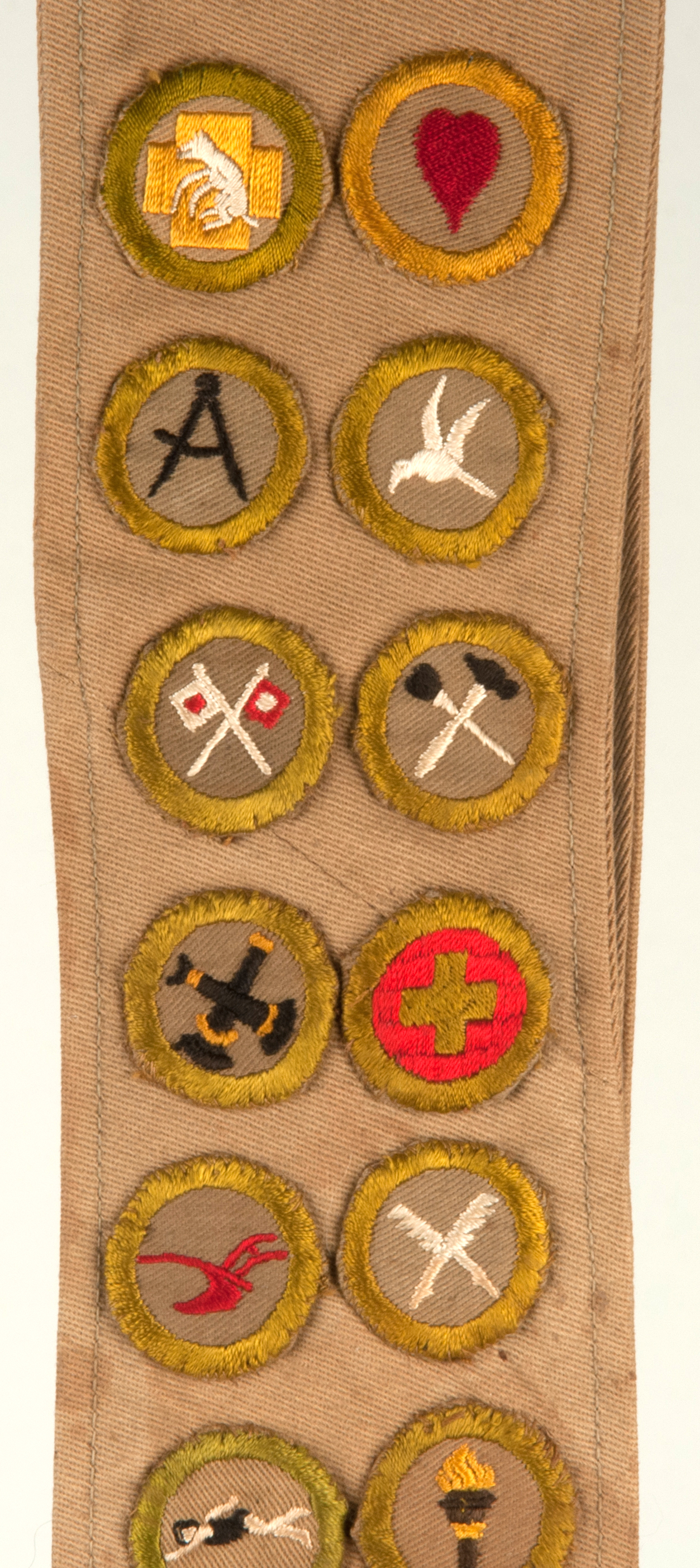 S Boy Scout Sash With Eagle And 24 Merit Badges