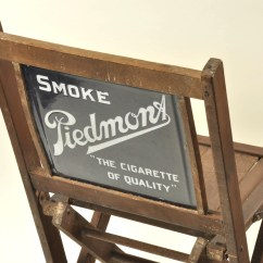 Folding Chair Auction Dining Room Table And Chairs Sale Lot #490 - Piedmont Cigarette Advertising Manifest Auctions