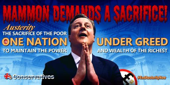 Kampanje mot Storbritannias statsminister David Cameron. Foto: Byzantine_K
