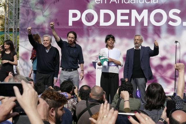Spanske Podemos er inspirert av venstrepopulismen og Mouffe. Foto: Cyberfrancis.