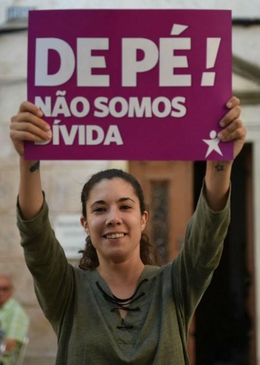 Ikke vår gjeld! Foto: Bloco