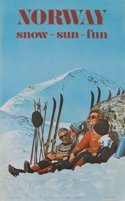 Snø som merkevare, her fra NSB 1970.