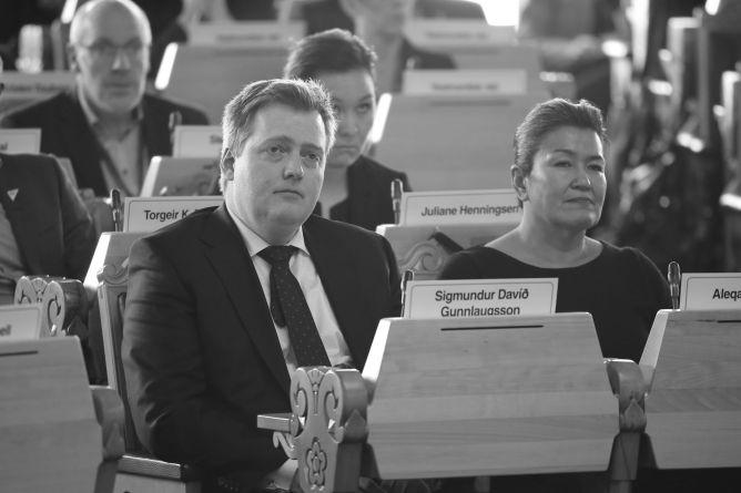 Islands statsminister Sigmundur Davíð Gunnlaugsson. Foto: Stortinget