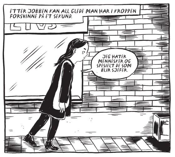 Detalj fra Lønnsslaver av Daria Bogdanska.