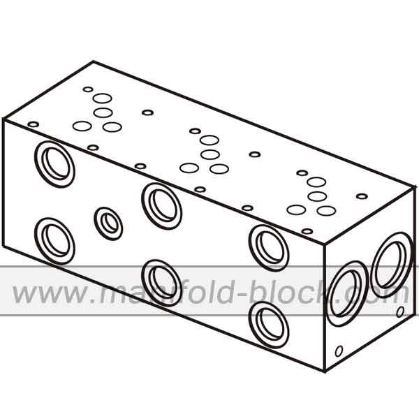 D05 Hydraulic Manifold, BM10PN Parallel Circuit Normal
