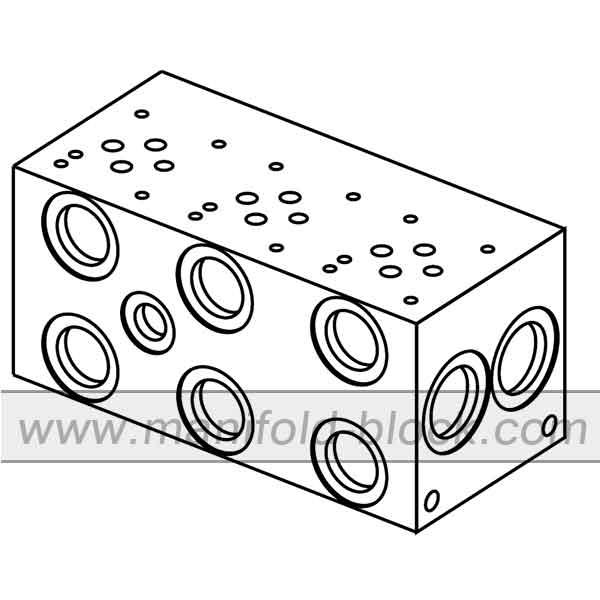 D03 Hydraulic Manifold, BM6PN Parallel Circuit Normal Flow