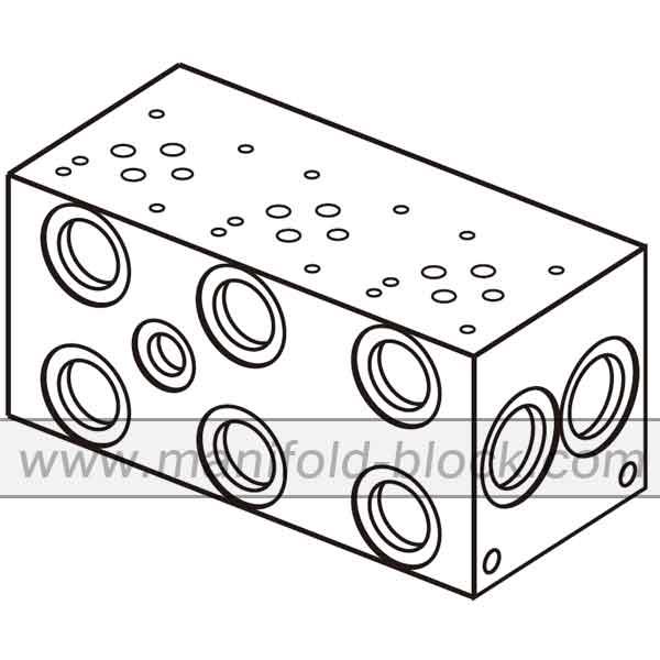 D03 Hydraulic Manifold, BM6SN Series Circuit Normal Flow