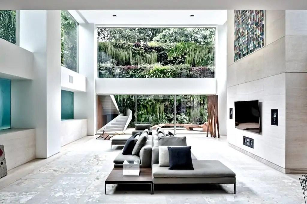 zwembad in huiskamer