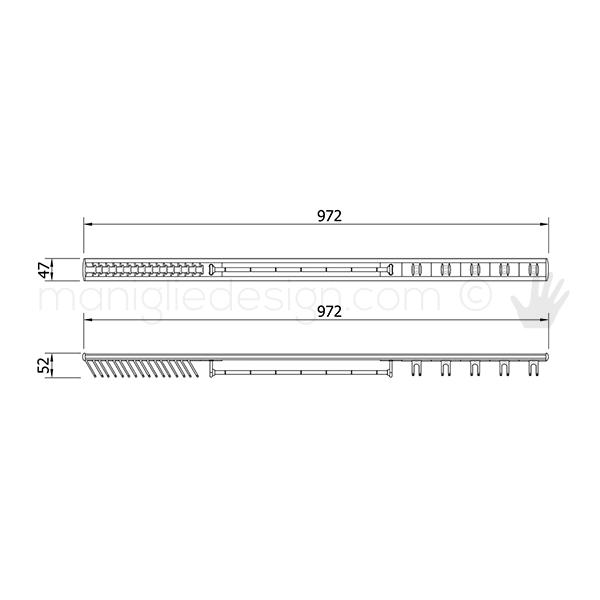 Portacravatte fisso polifunzionale Servetto per armadio