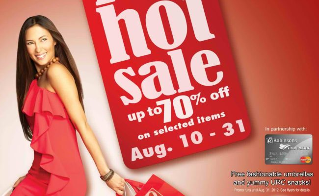 Robinsons Malls Red Hot Sale August 2012 Manila On Sale