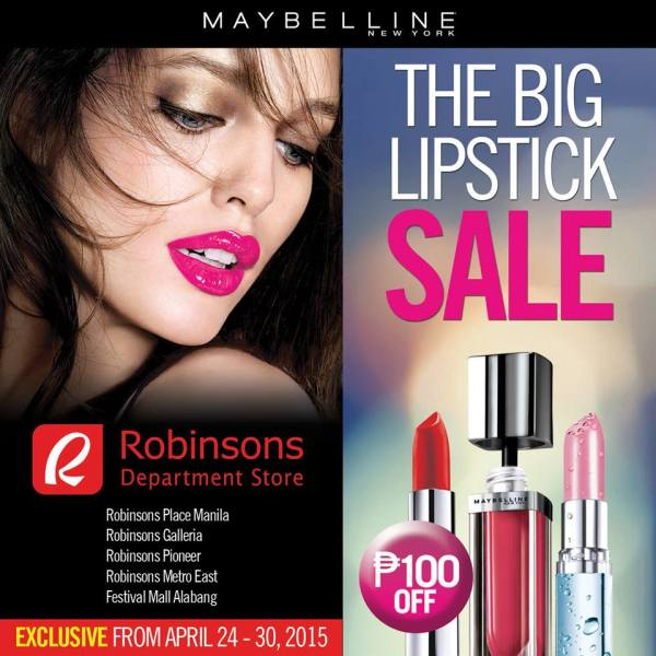 Maybelline Big Lipstick Robinsons Department