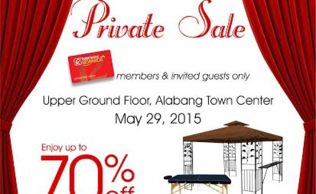 True Value Private Sale Alabang Town Center May 2015