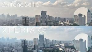 xperia c5 ultra vs zenfone selfie camera review