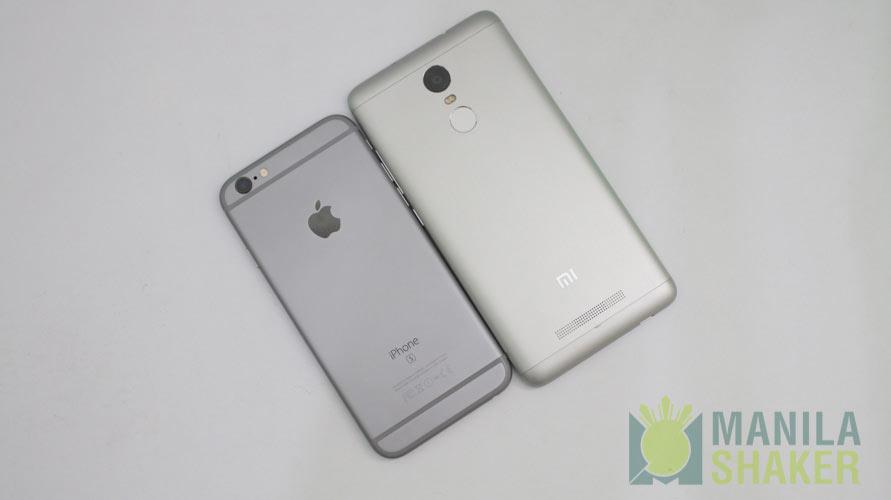 Iphone 6s vs xiaomi redmi note 4
