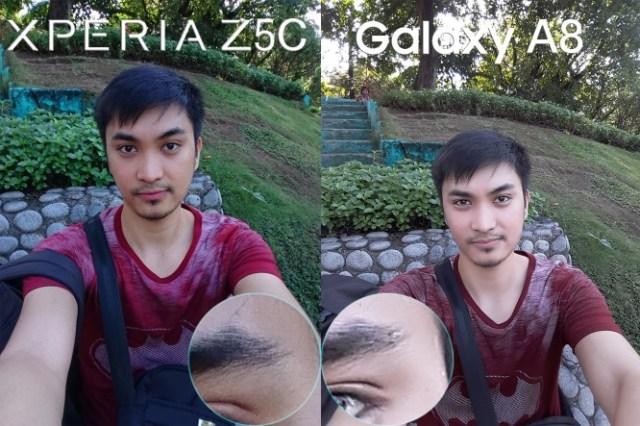 sony xperia z5 compact vs galaxy a8 comparison camera review7