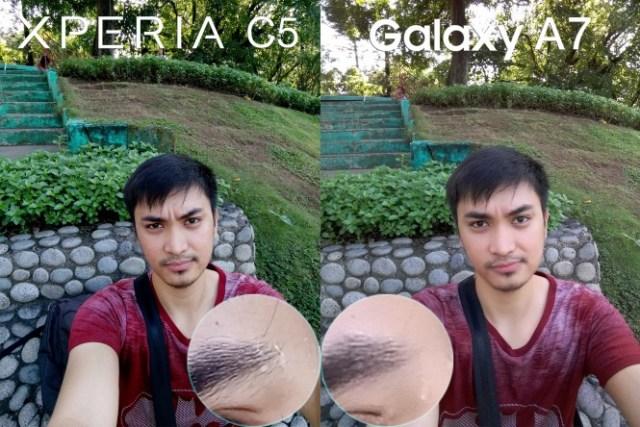 xperia c5 ultra vs galay a7 camera review comparison1