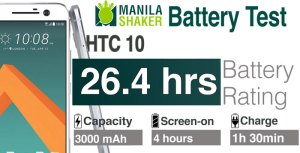 HTC 10 Battery Life Rating PC Mark