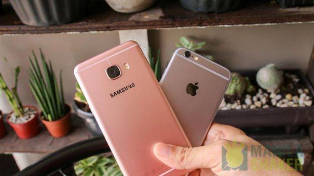 Samsung Galaxy C5 C7 Review vs iPhone 6s Comparison 4