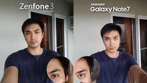 Asus Zenfone 3 Deluxe vs Samsung Galaxy Note 7 Camera Review Comparison Selfie