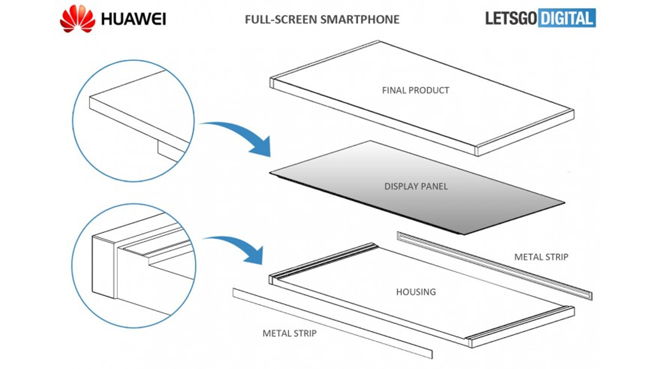 Huawei might create a bezel-less smartphone in the future