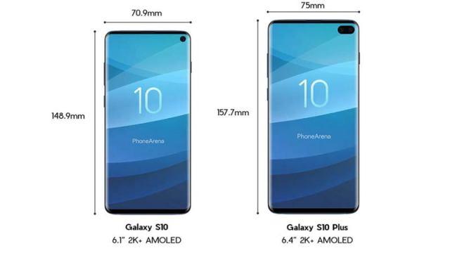 samsung-galaxy-s10-vs-galaxy-s10-plus-size-comparison