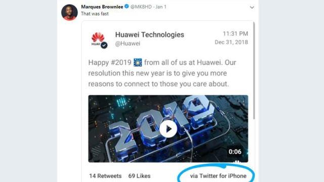 Huawei-Tweet-Using-iPhone-2019