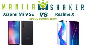 Xiaomi Mi 9 SE vs realme x Specs Comparison