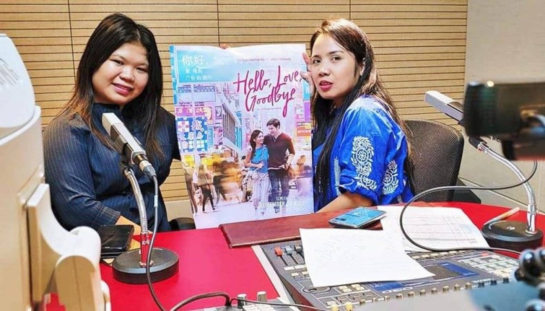 Assisting Filipino community organizations that promoted their fund-raising film showing on her radio show