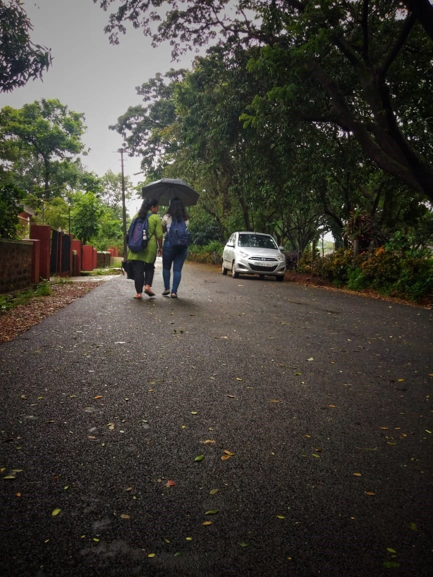 Sharing an umbrella MIT Manipal