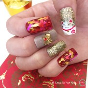 chinese year nails - cny manicure