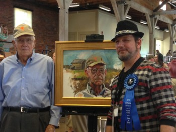 artfields portrait winning photo with Paul Poston in focus