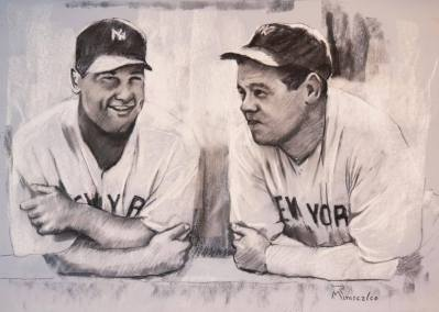 Babe Ruth and Lou Gherig