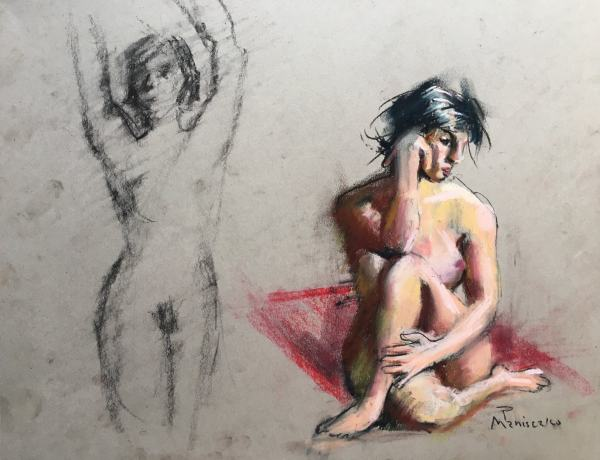 Seated Nude with Crossed Legs