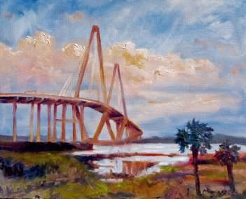 Ravenel Bridge in Summer