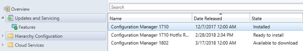 SCCM (System Center Configuration Manager) 1802 Step by Step Upgrade Guide 1