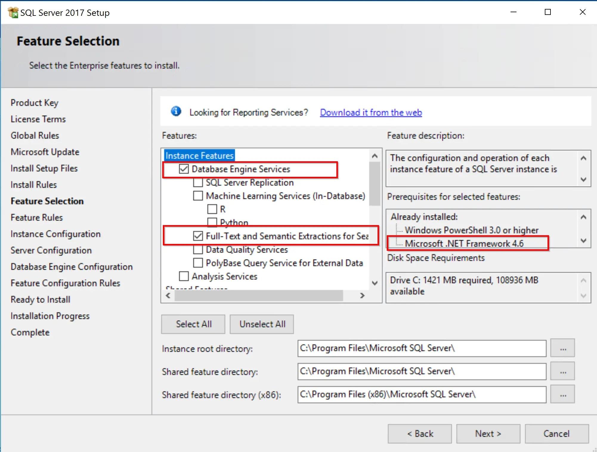 SQL Server 2017 Step by step for SCCM Installation 7