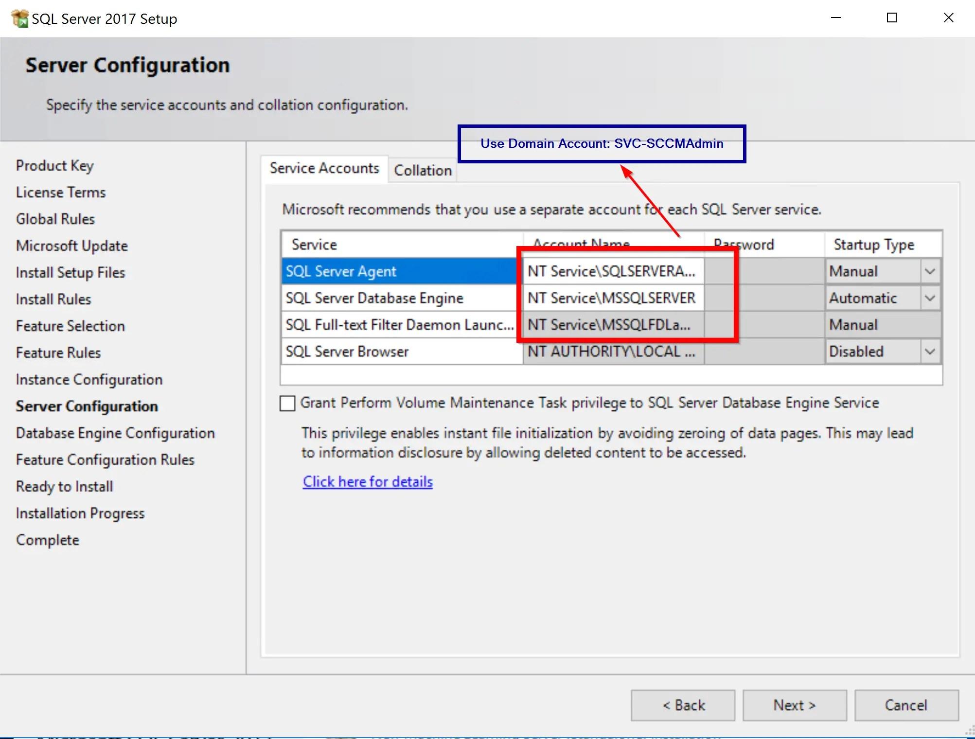 SQL Server 2017 Step by step for SCCM Installation 9