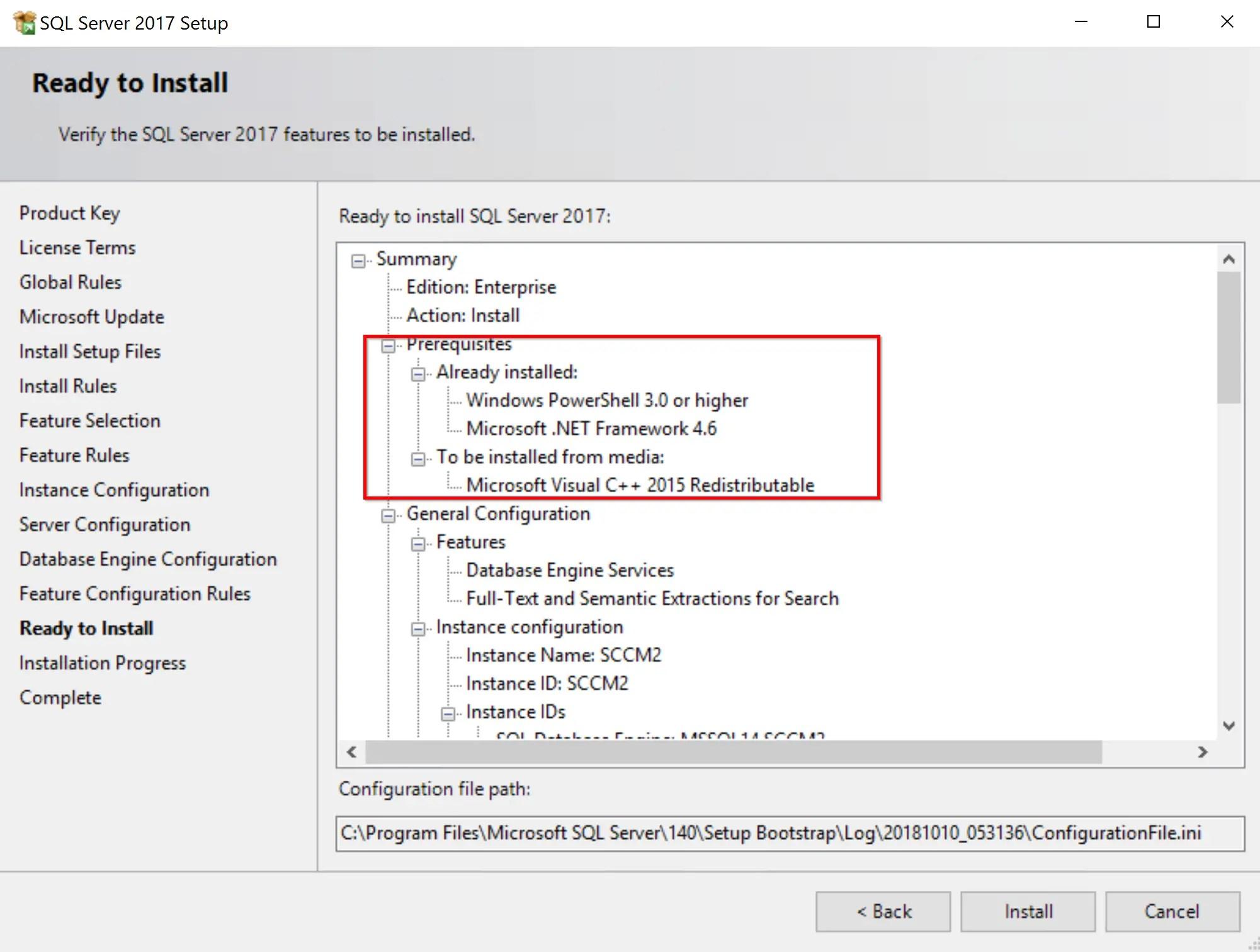 SQL Server 2017 Step by step for SCCM Installation 14