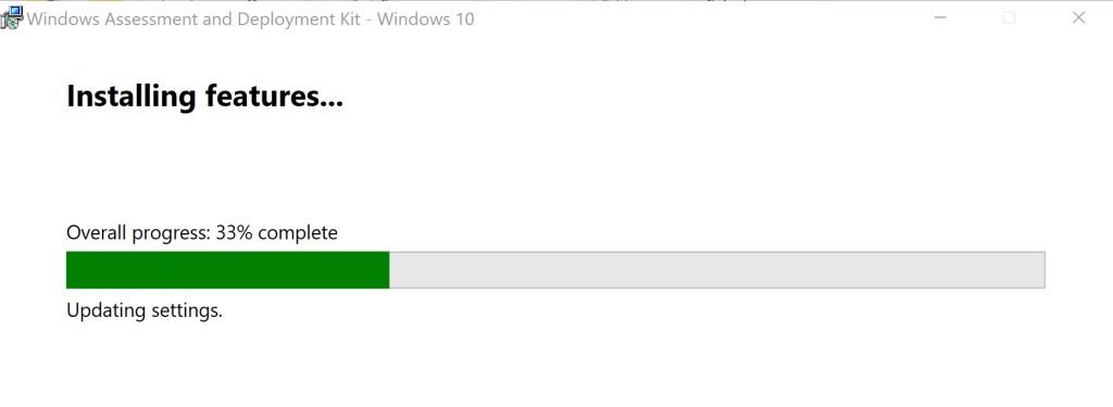 Installation of ADK for Windows 10 (version 1809) 4