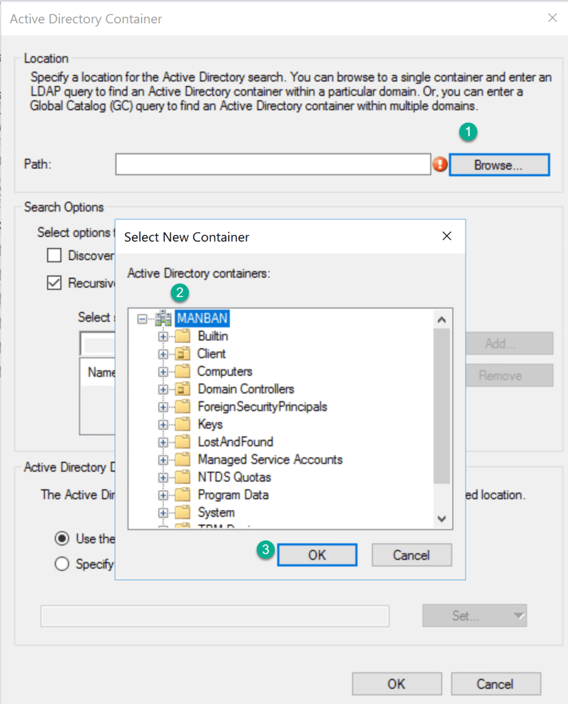 Setting up Discovery Methods for SCCM