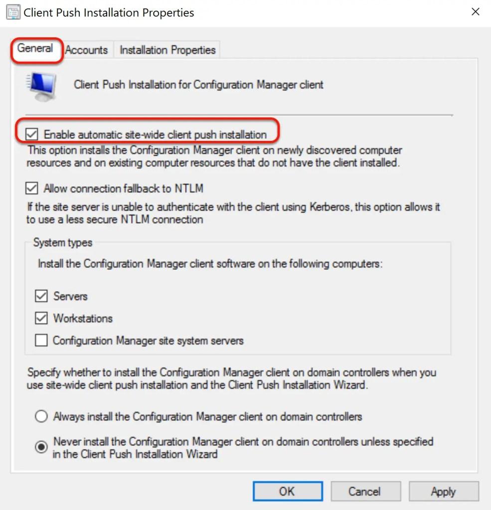 SCCM Automatic Client Push Installation 6