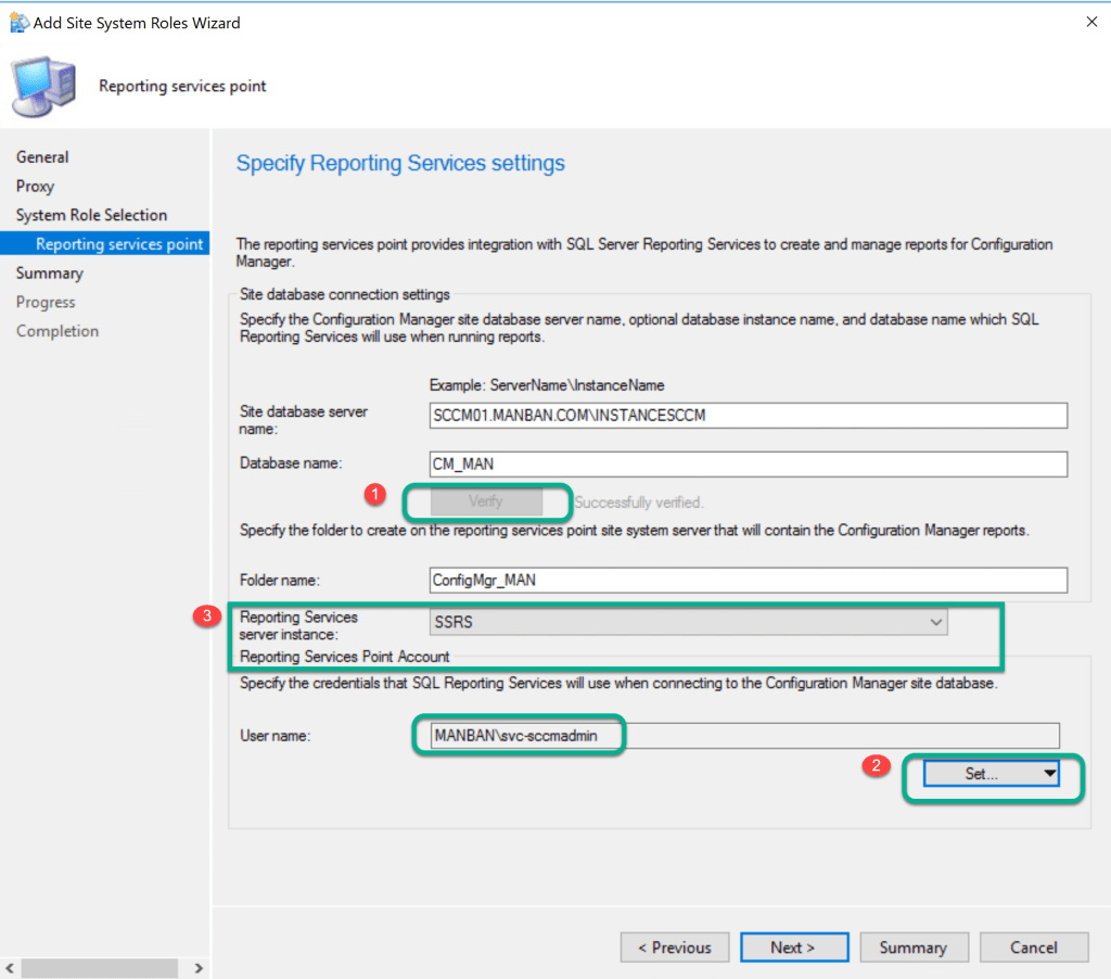 Reporting Services Point Role Installation - SCCM 4