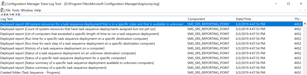 Reporting Services Point Role Installation - SCCM 7