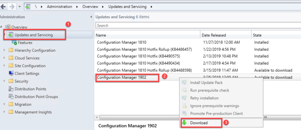 SCCM 1902 Step by Step Upgrade Guide 2
