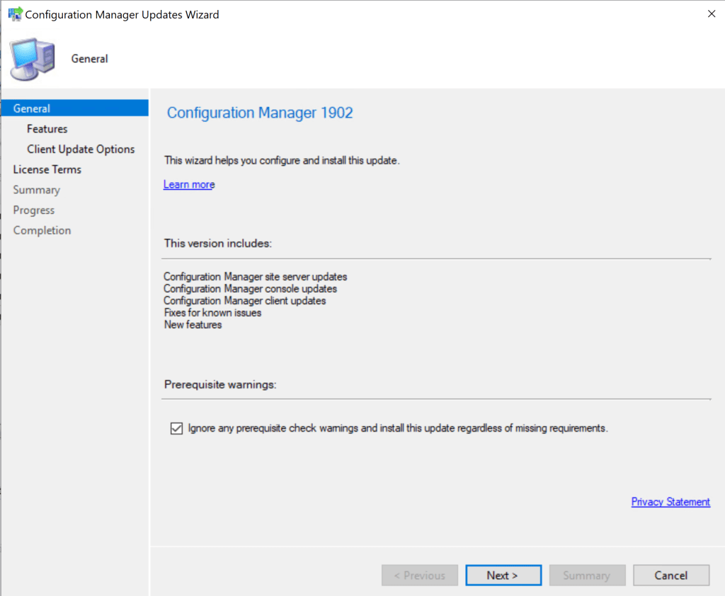 SCCM 1902 Step by Step Upgrade Guide 10