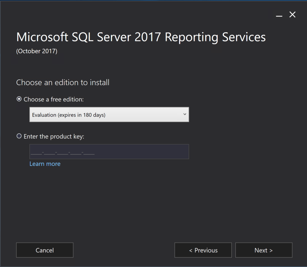 Install SQL Server 2017 Reporting Services 2