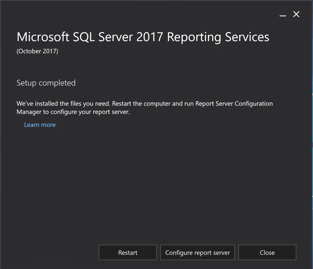 Install SQL Server 2017 Reporting Services 4